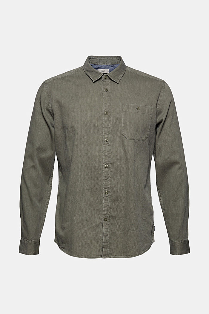 Hemd mit Struktur aus 100% Baumwolle