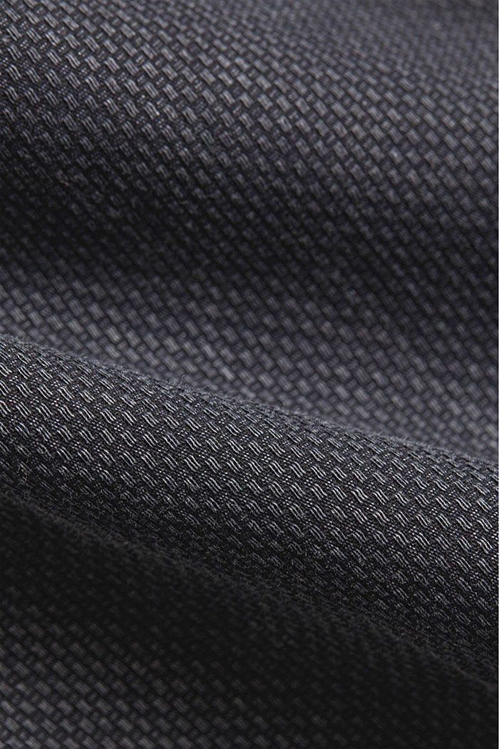 Textured shirt made of 100% cotton, NAVY, detail image number 4