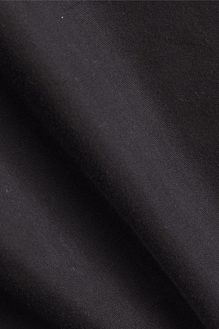 Weatherproof light jacket in blended cotton, BLACK, detail image number 4