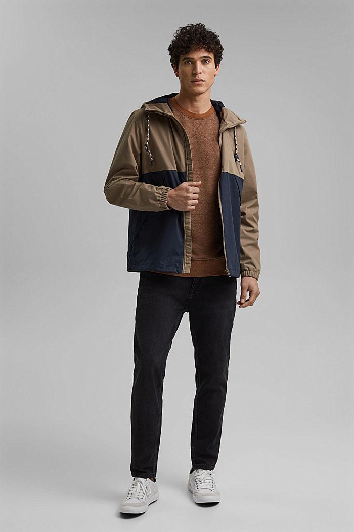 Weatherproof light jacket in blended cotton, BEIGE, detail image number 1