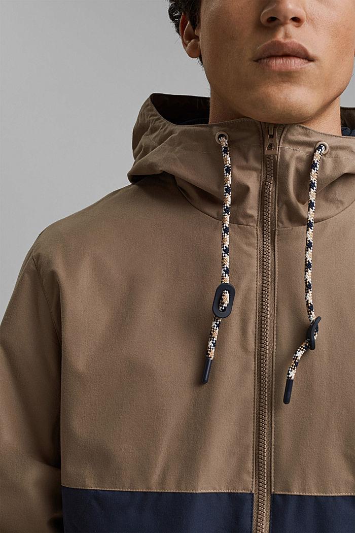 Weatherproof light jacket in blended cotton, BEIGE, detail image number 2
