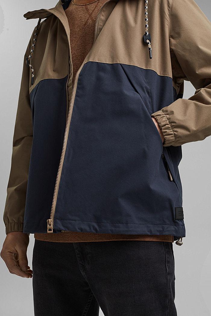 Weatherproof light jacket in blended cotton, BEIGE, detail image number 6