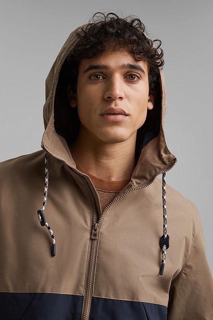 Weatherproof light jacket in blended cotton, BEIGE, detail image number 5