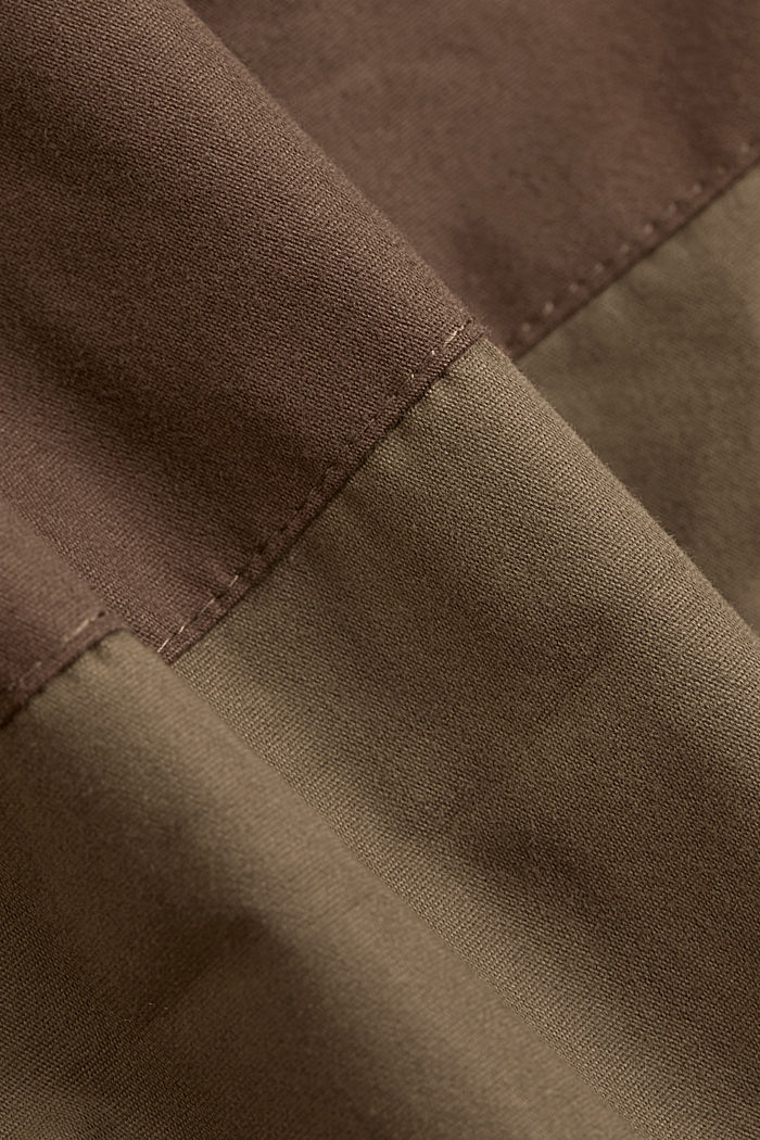 Weatherproof light jacket in blended cotton, DARK KHAKI, detail image number 4