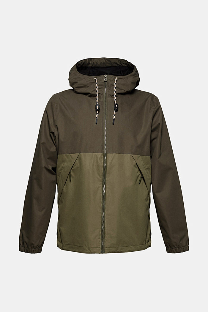 Weatherproof light jacket in blended cotton, DARK KHAKI, detail image number 7