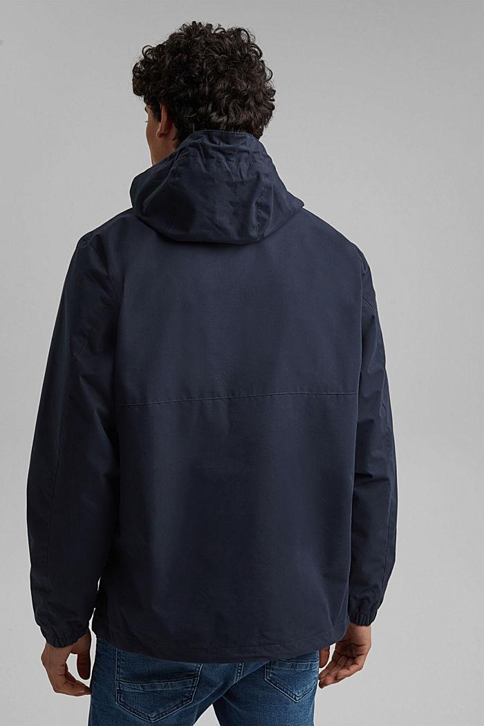 Weatherproof light jacket in blended cotton, NAVY, detail image number 3