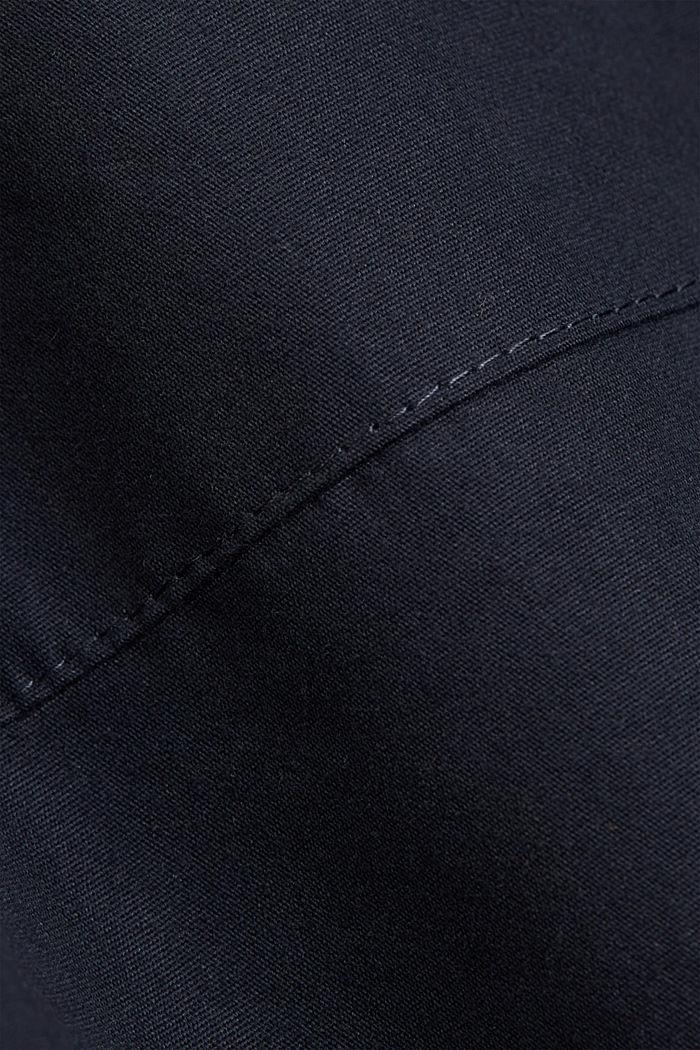 Weatherproof light jacket in blended cotton, NAVY, detail image number 4