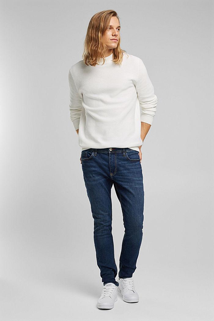 Strukturierter Pullover aus 100% Bio-Baumwolle, OFF WHITE, detail image number 1