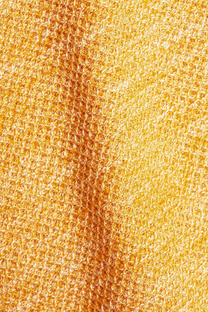 Gestructureerde trui van 100% biologisch katoen, SUNFLOWER YELLOW, detail image number 4