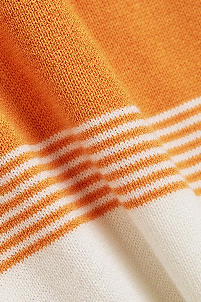 Colour block-trui van biologisch katoen, NAVY, detail image number 4