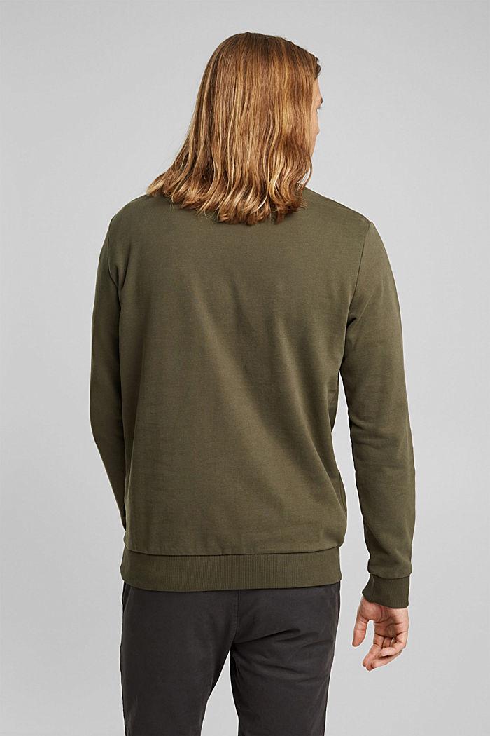 Sweatshirt aus 100% Baumwolle, DARK KHAKI, detail image number 3