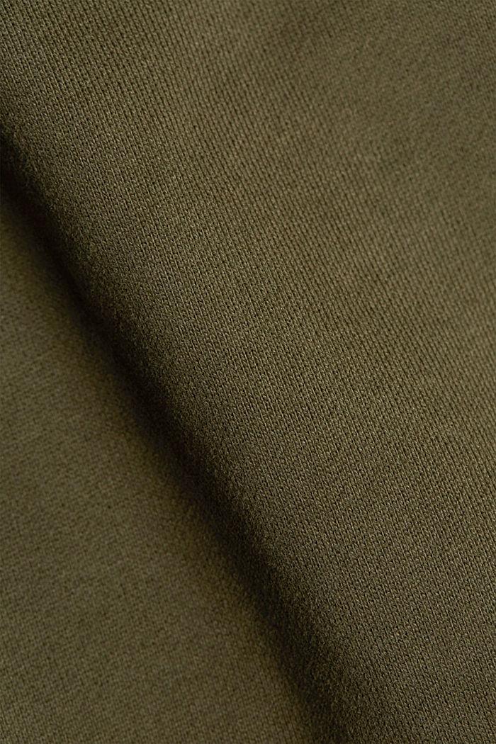 Sweatshirt aus 100% Baumwolle, DARK KHAKI, detail image number 5