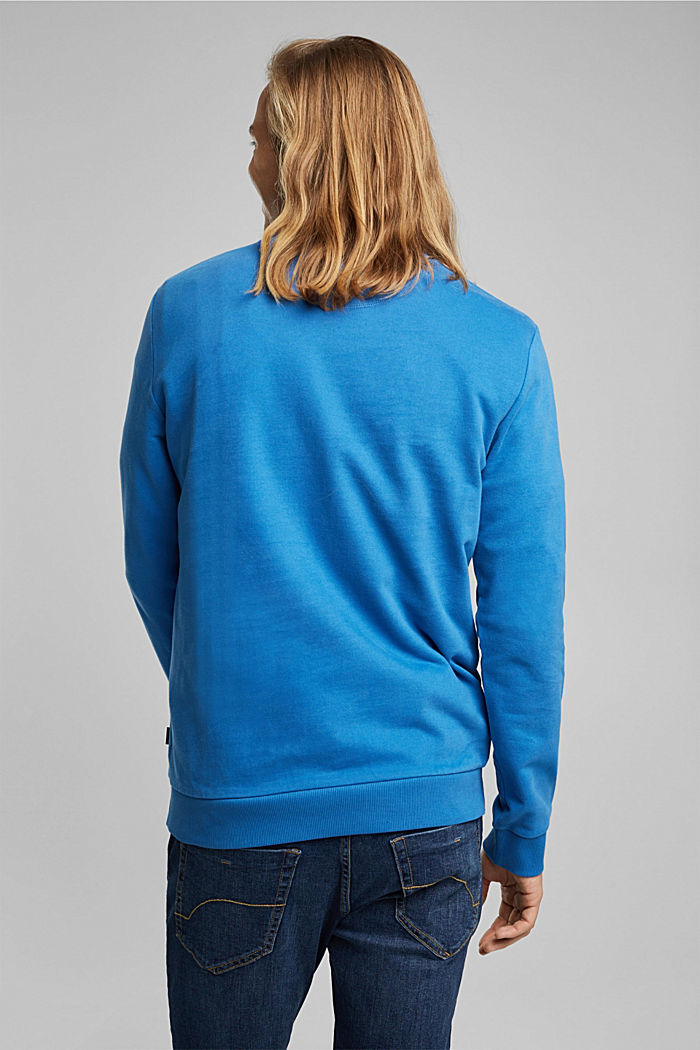 Sweatshirt in 100% cotton, BRIGHT BLUE, detail image number 3