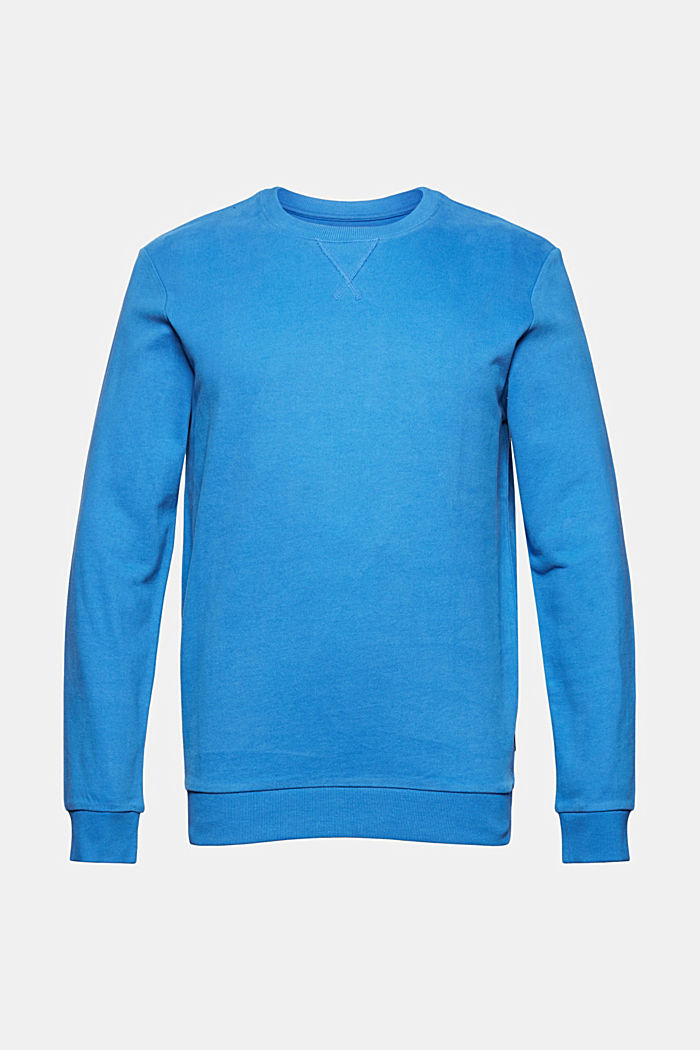 Sweatshirt in 100% cotton, BRIGHT BLUE, detail image number 5
