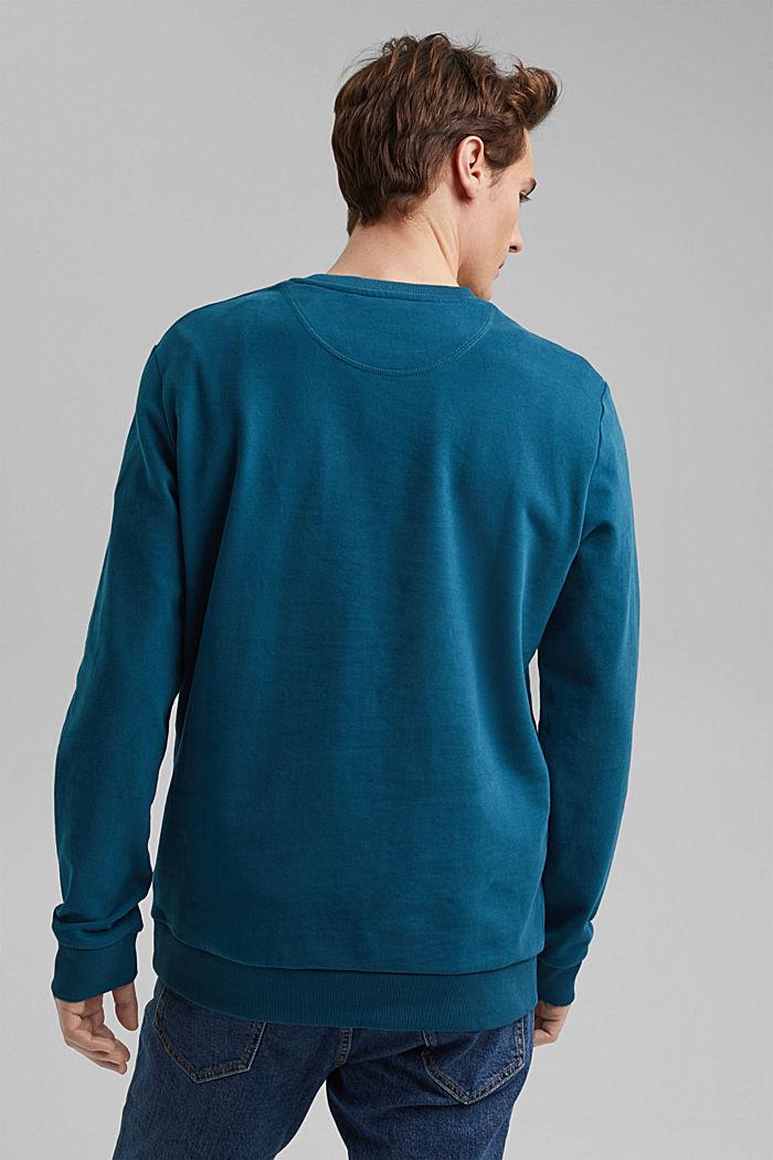 Sweatshirt aus 100% Baumwolle, PETROL BLUE, detail image number 3