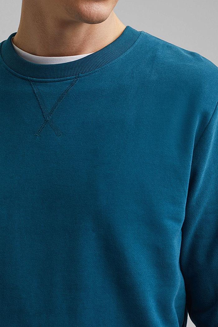 Sweatshirt aus 100% Baumwolle, PETROL BLUE, detail image number 2