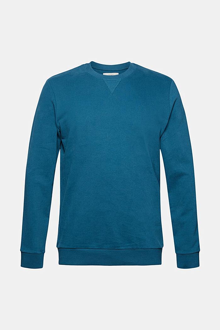 Sweatshirt aus 100% Baumwolle, PETROL BLUE, detail image number 5