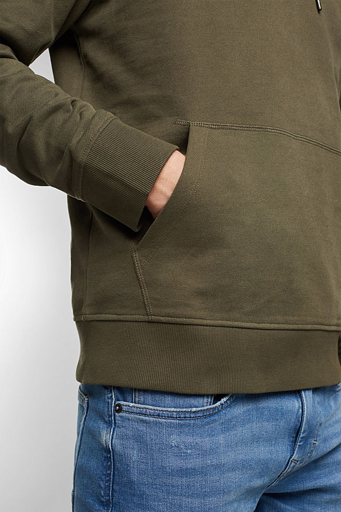 Sweat-Hoodie aus 100% Baumwolle, DARK KHAKI, detail image number 5