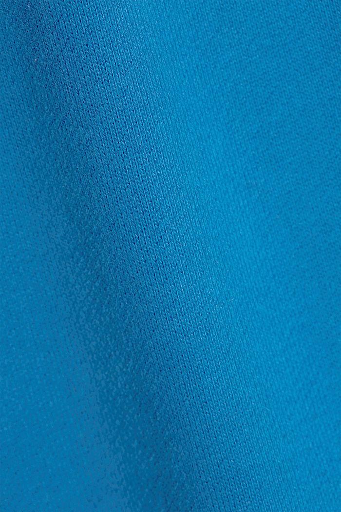 Sweatshirt hoodie in 100% cotton, BRIGHT BLUE, detail image number 4