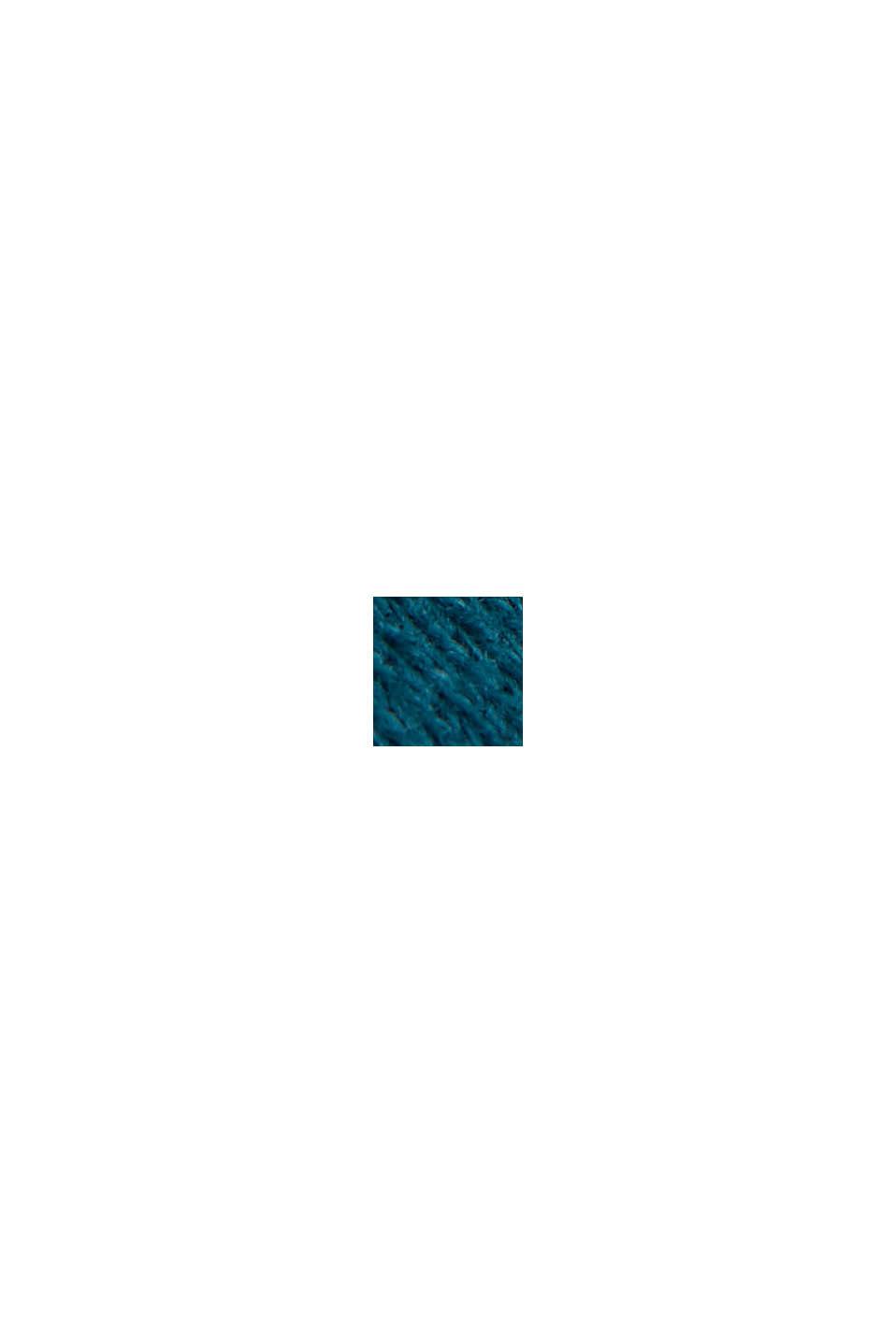 Sweathoodie van 100% katoen, PETROL BLUE, swatch