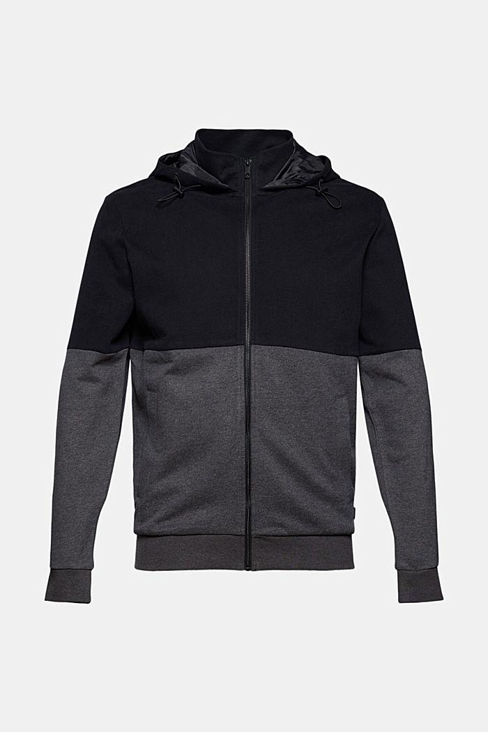 Cardigan molletonné colour blocking