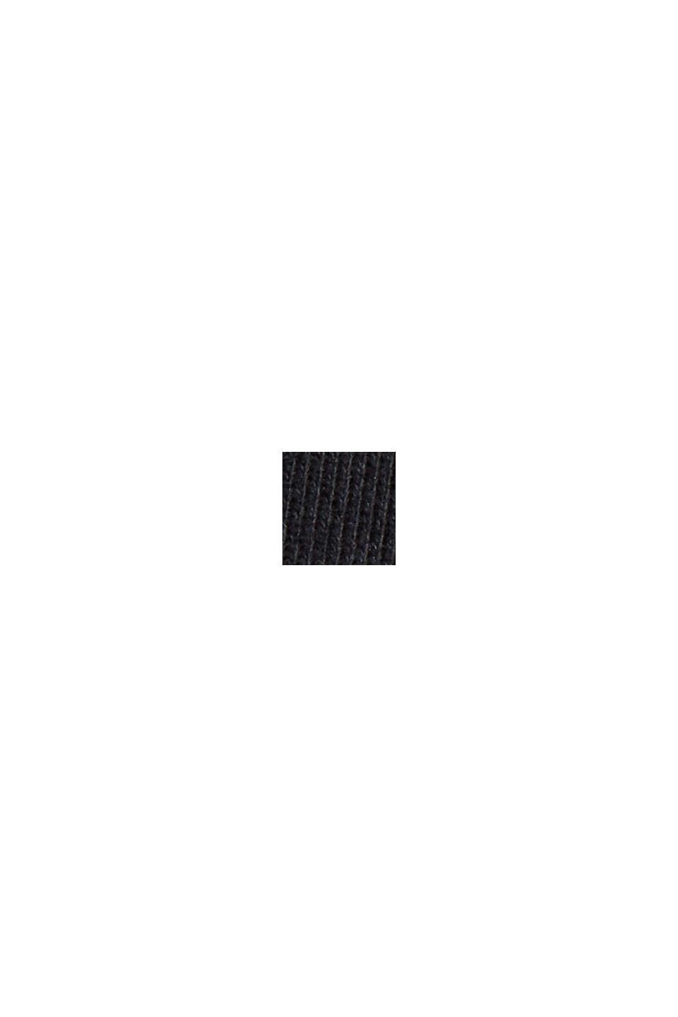 Cardigan molletonné colour blocking, BLACK, swatch