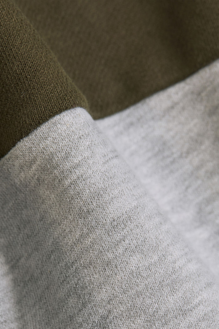 Sweat-Cardigan mit Colorblock, DARK KHAKI, detail image number 5