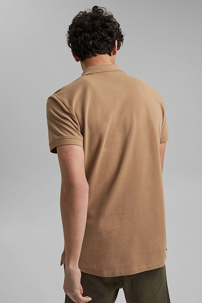 Piqué polo shirt made of 100% organic cotton, CAMEL, detail image number 3