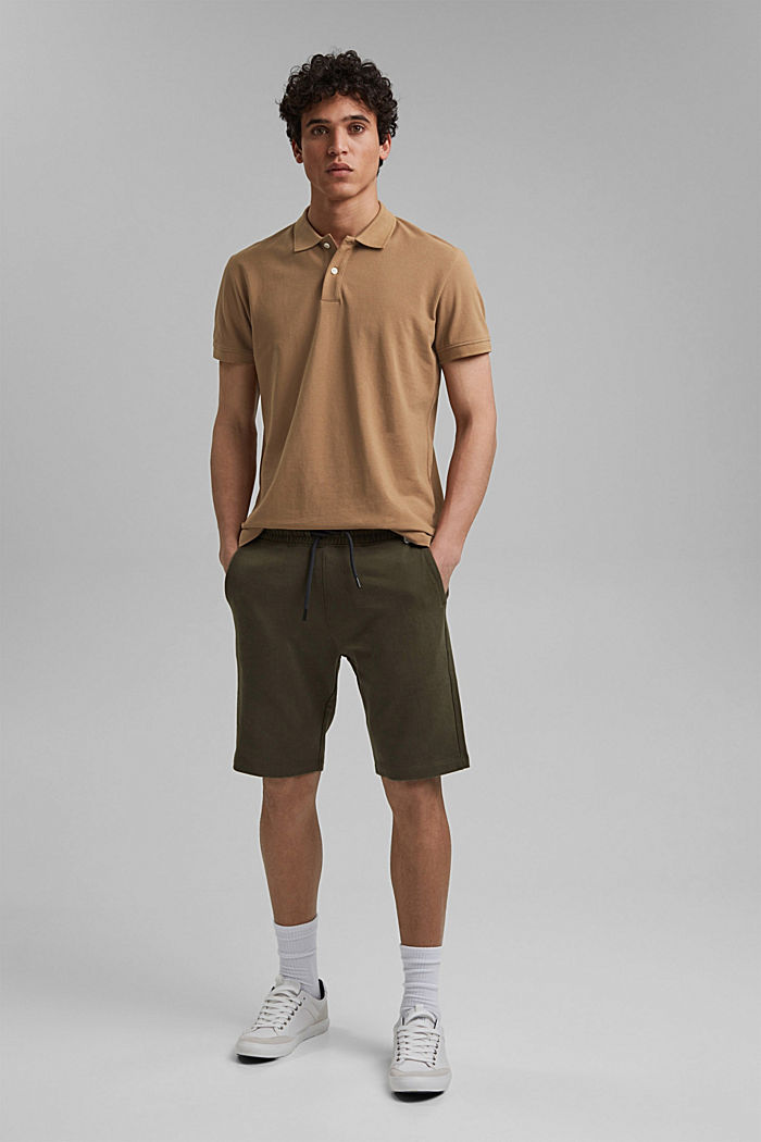 Piqué polo shirt made of 100% organic cotton, CAMEL, detail image number 8