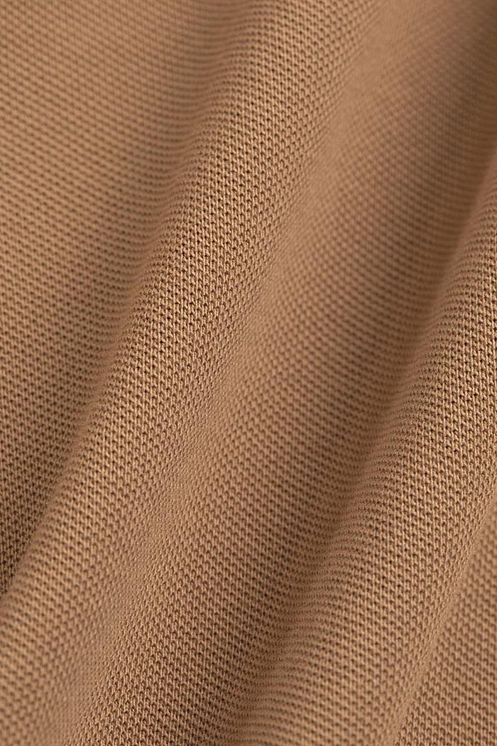 Piqué polo shirt made of 100% organic cotton, CAMEL, detail image number 5