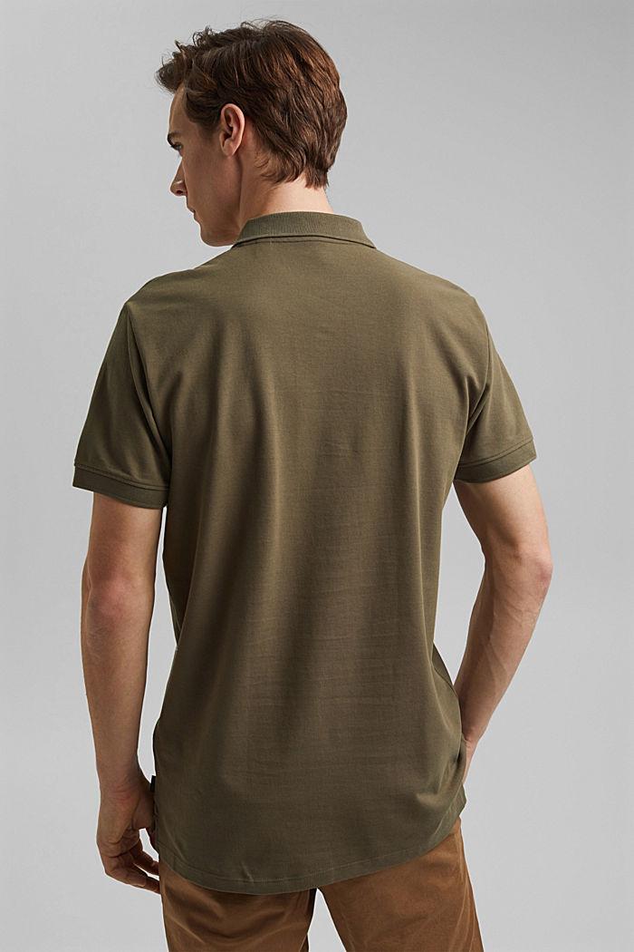 Piqué polo shirt made of 100% organic cotton, DARK KHAKI, detail image number 3
