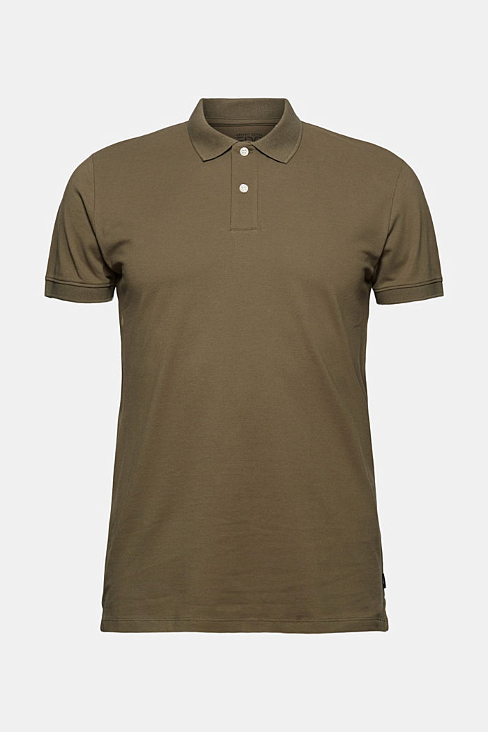 Piqué polo shirt made of 100% organic cotton, DARK KHAKI, detail image number 5