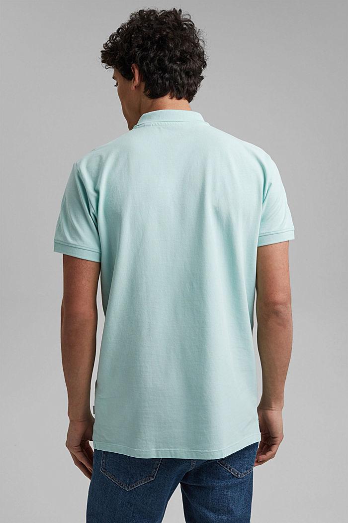 Piqué polo shirt made of 100% organic cotton, LIGHT AQUA GREEN, detail image number 3