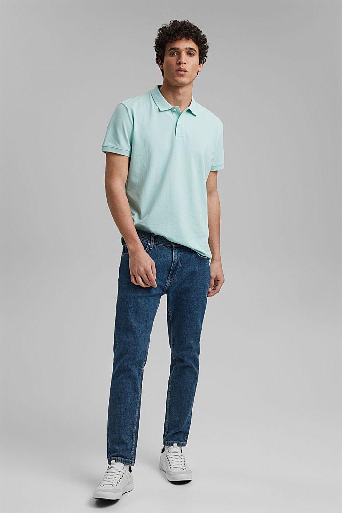 Piqué polo shirt made of 100% organic cotton, LIGHT AQUA GREEN, detail image number 2