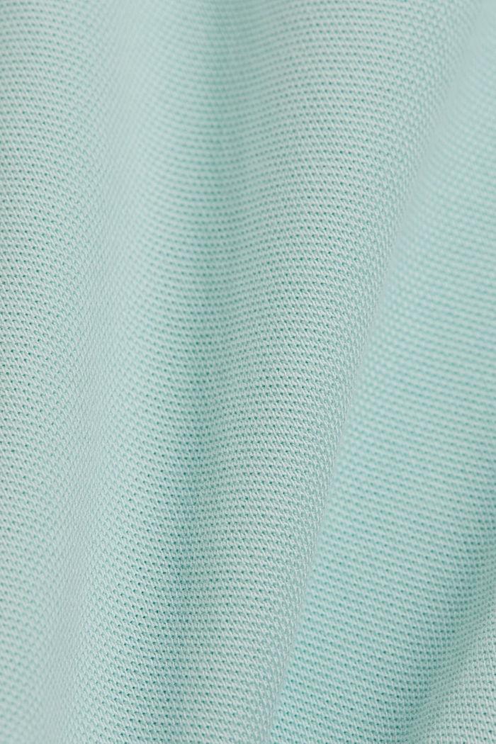 Piqué polo shirt made of 100% organic cotton, LIGHT AQUA GREEN, detail image number 4
