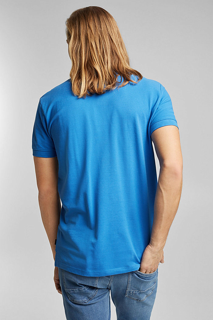 Piqué polo shirt made of 100% organic cotton, BRIGHT BLUE, detail image number 3