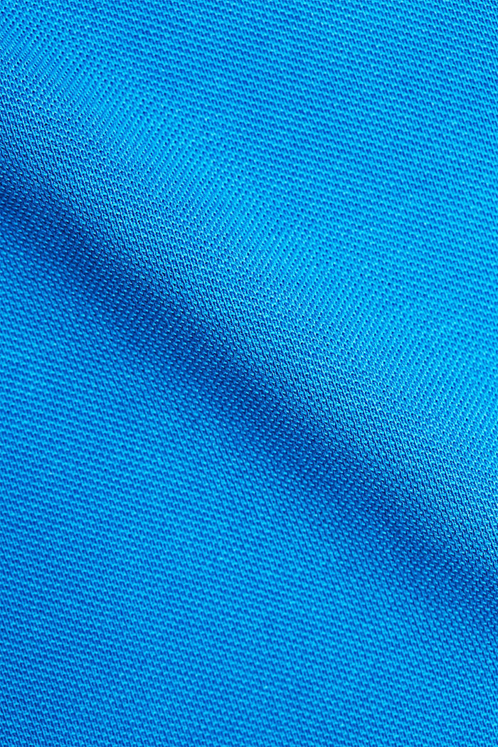 Piqué polo shirt made of 100% organic cotton, BRIGHT BLUE, detail image number 4