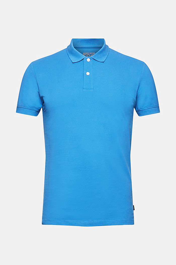 Piqué polo shirt made of 100% organic cotton, BRIGHT BLUE, detail image number 6