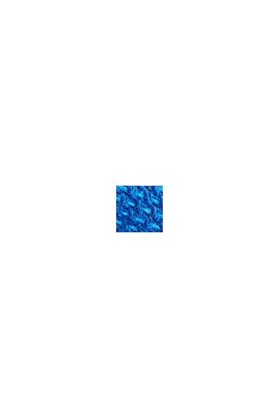 Piqué poloshirt van 100% organic cotton, BRIGHT BLUE, swatch