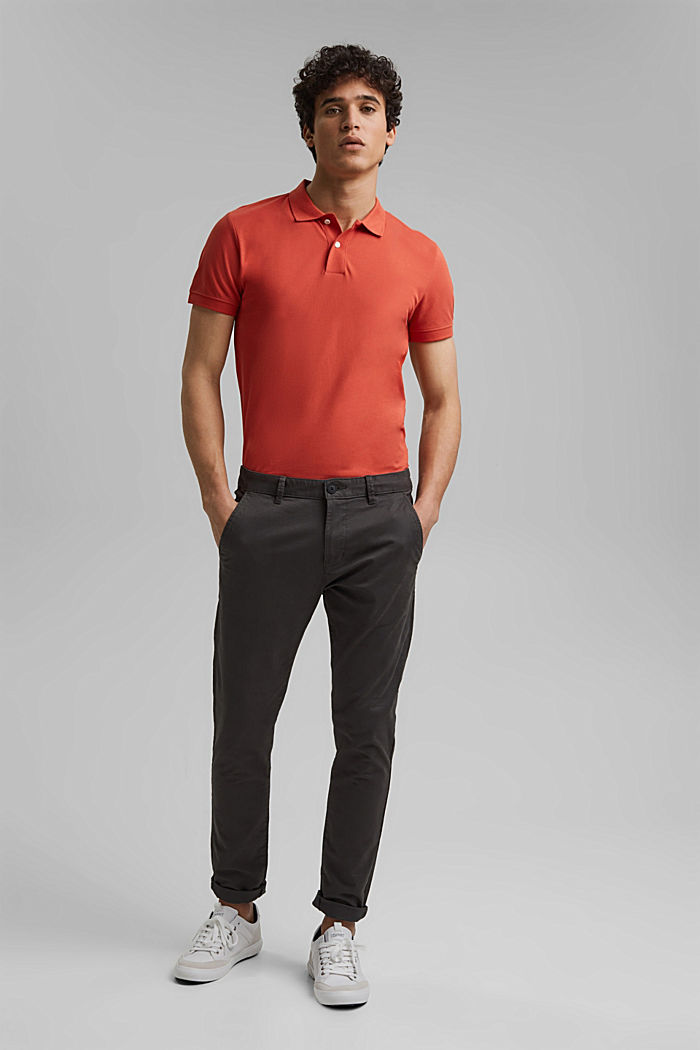 Piqué polo shirt made of 100% organic cotton, CORAL, detail image number 2
