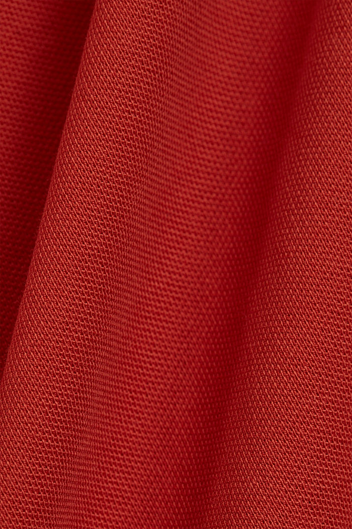Piqué polo shirt made of 100% organic cotton, CORAL, detail image number 5