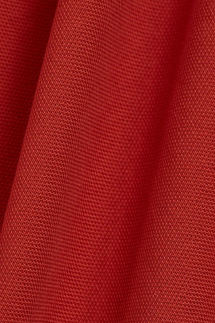 Piqué-Poloshirt aus 100% Organic Cotton, CORAL, detail image number 5
