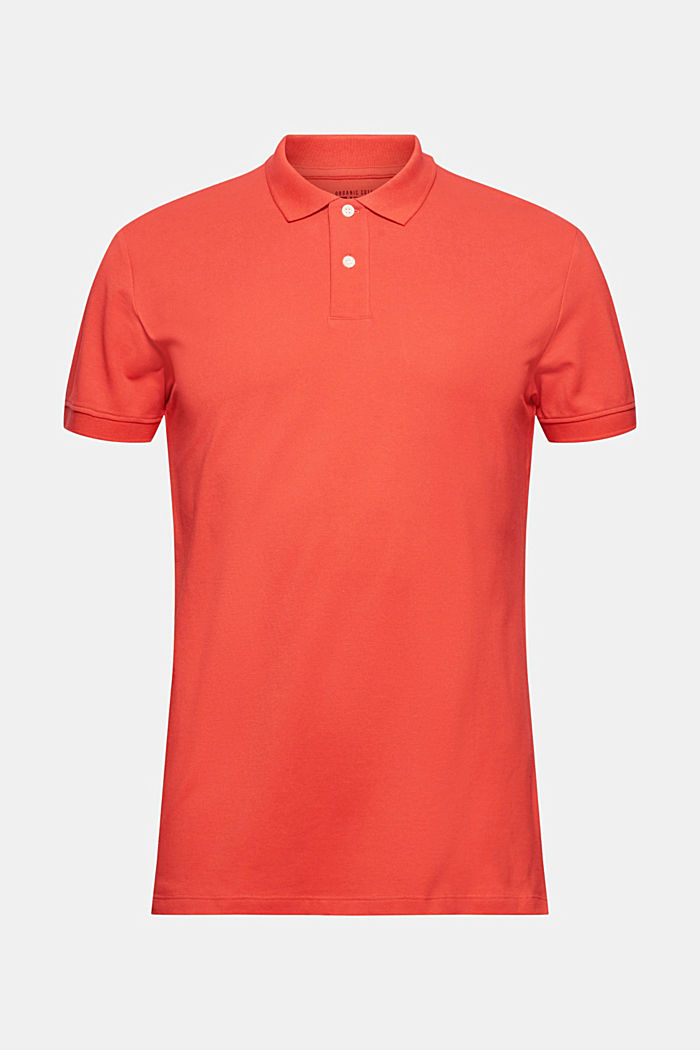 Piqué polo shirt made of 100% organic cotton, CORAL, detail image number 7