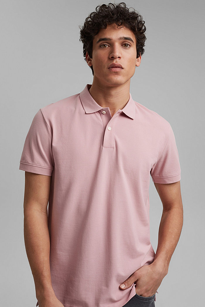 Piqué polo shirt made of 100% organic cotton, PASTEL PINK, detail image number 4