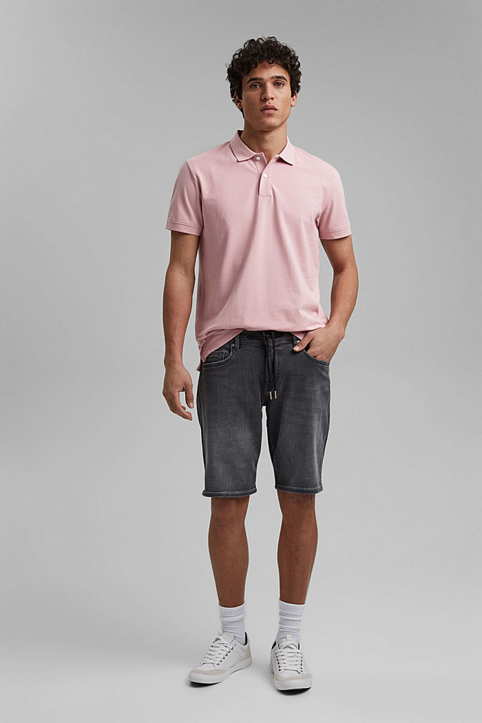 Piqué polo shirt made of 100% organic cotton, PASTEL PINK, detail image number 2