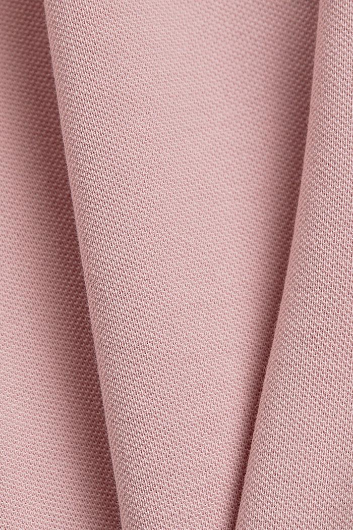Piqué polo shirt made of 100% organic cotton, PASTEL PINK, detail image number 5