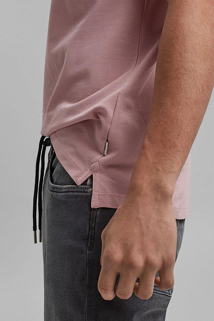 Piqué polo shirt made of 100% organic cotton, PASTEL PINK, detail image number 6