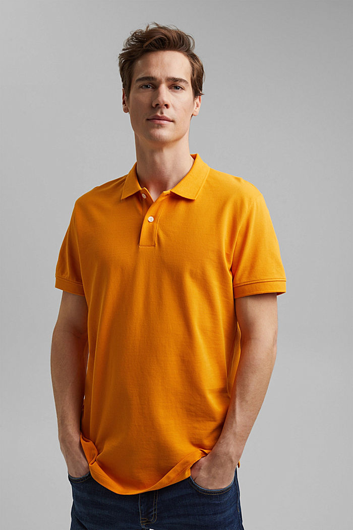 Piqué polo shirt made of 100% organic cotton, SUNFLOWER YELLOW, detail image number 0