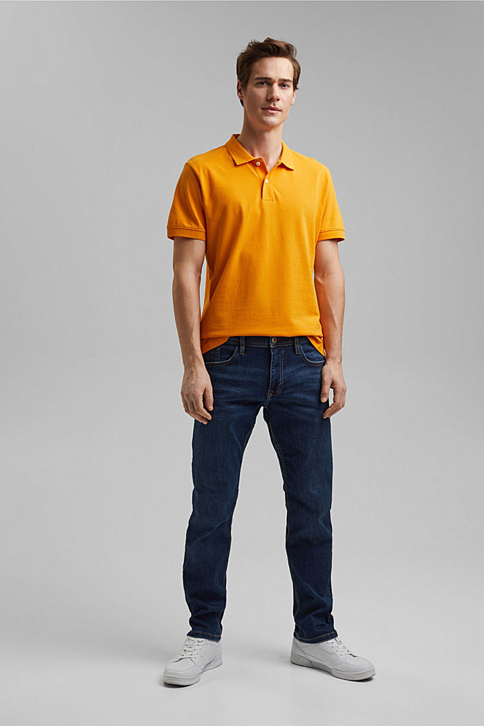 Piqué polo shirt made of 100% organic cotton, SUNFLOWER YELLOW, detail image number 6