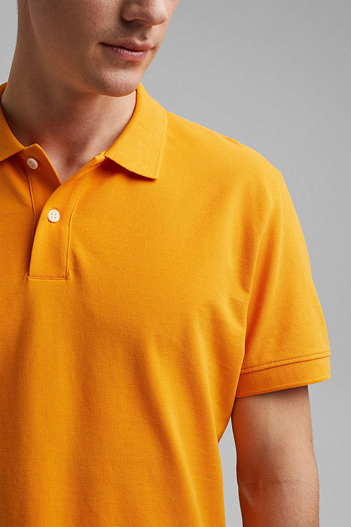 Piqué polo shirt made of 100% organic cotton, SUNFLOWER YELLOW, detail image number 1